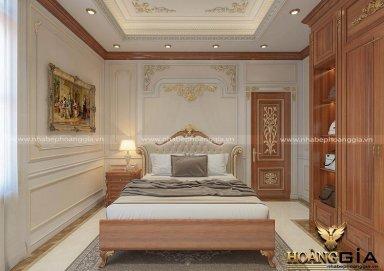 Mẫu thiết kế phòng ngủ tân cổ điển gỗ tự nhiên sang trọng