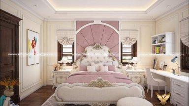 Tan chảy trước các mẫu thiết kế phòng ngủ tân cổ điển cho con gái ngọt ngào