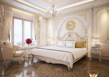 Tư vấn thiết kế phòng ngủ tân cổ điển đẹp cho nhà biệt thự