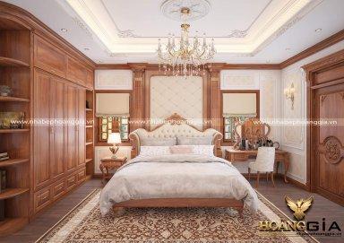 Thiết kế nội thất phòng ngủ phong cách tân cổ điển sang trọng