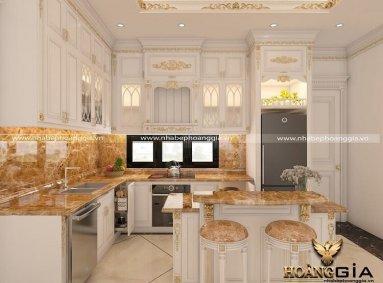 Địa chỉ thiết kế thi công tủ bếp tại Thái Nguyên uy tín