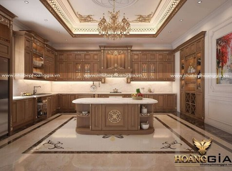 Đơn vị thiết kế thi công tủ bếp tại Vĩnh Phúc chất lượng