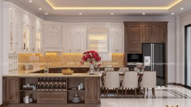 Nhà Bếp Hoàng Gia đứng đầu về thiết kế thi công tủ bếp tân cổ điển
