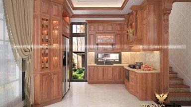 Những điều cần biết trong thiết kế tủ bếp gỗ gõ đỏ hoàn hảo