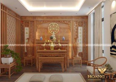 Tổng hợp mẫu thiết kế phòng thờ đẹp năm 2019