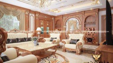 Gợi ý cách trang trí phòng khách tân cổ điển thanh lịch đầy thu hút
