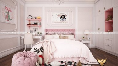 Cách trang trí phòng ngủ đẹp cho con gái đầy thu hút