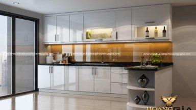 Tủ bếp acrylic bền đẹp với giá cả hợp túi tiền