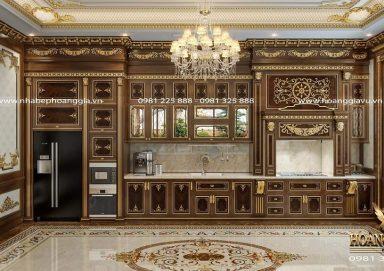 Mẫu thiết kế phòng bếp ăn cổ điển đầy đẳng cấp