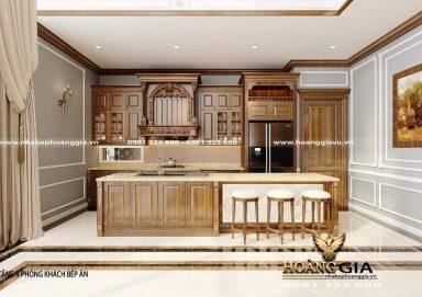 Sang trọng với mẫu thiết kế tủ bếp đẹp cho căn hộ penthouse