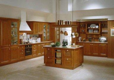 Mẫu tủ bếp đẹp với chất liệu gỗ hương cao cấp