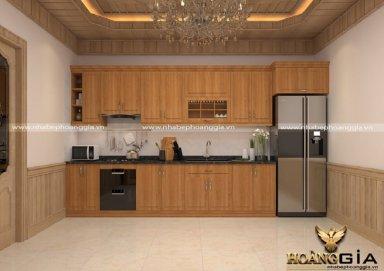 Mẫu tủ bếp gỗ sồi Mỹ 02