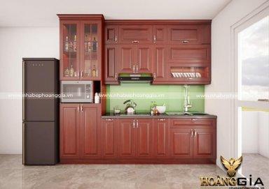 Mẫu tủ bếp gỗ sồi Mỹ 05