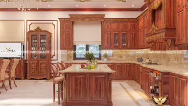 Tủ bếp gỗ tự nhiên loại nào tốt nhất hiện nay