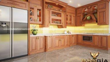 Sử dụng tủ bếp gỗ xoan đào có tốt không?