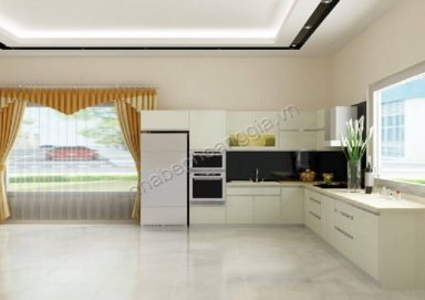 Mẫu tủ bếp Laminate 04