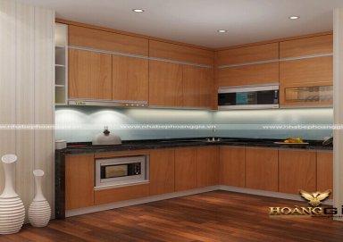 Mẫu tủ bếp Laminate 05