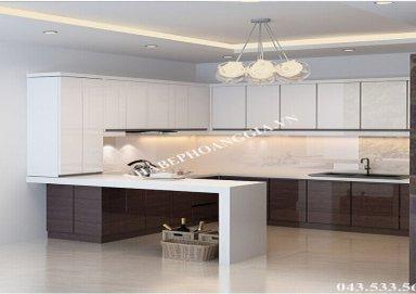 Mẫu tủ bếp Laminat 07