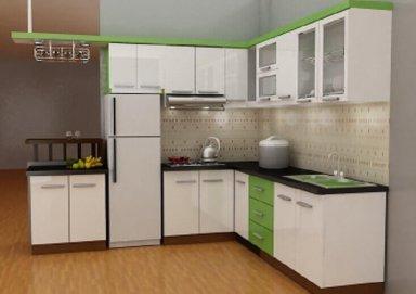 Mẫu tủ bếp Laminate 09