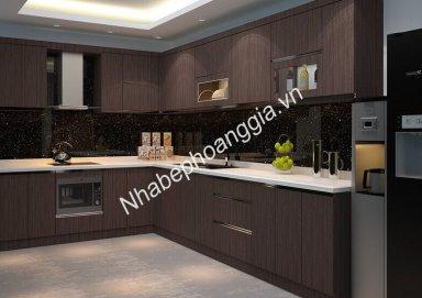 Mẫu tủ bếp Laminate 10