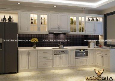 Mẫu tủ bếp đẹp với nước sơn trắng thanh lịch