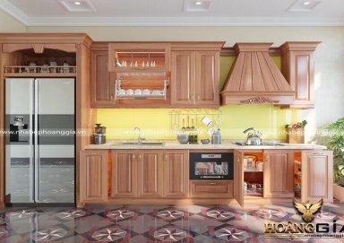 Mẫu tủ bếp tân cổ điển 02