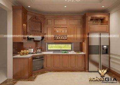 Thiết kế tủ bếp tân cổ điển sang trọng nhà chị Xuân (Tp Hồ Chí Minh)