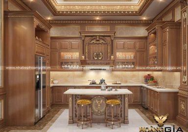 Chiêm ngưỡng mẫu tủ bếp tân cổ điển hoàng gia đẳng cấp