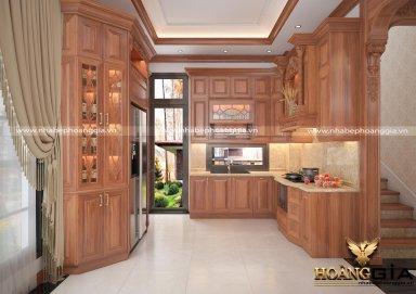 Tủ bếp tân cổ điển nhà anh Công Hải Phòng