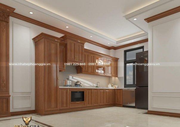 Dự án thiết kế nội thất phòng bếp tân cổ điển nhà chú Tráng (Hà Nội)