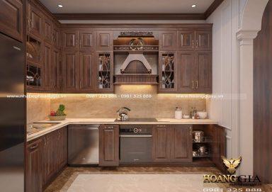 Mẫu thiết kế tủ bếp tân cổ điển ấn tượng cho nhà nhỏ