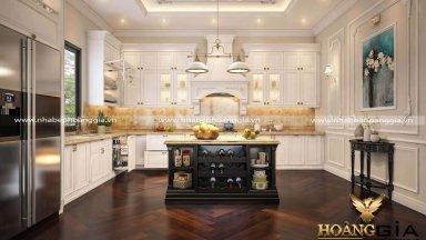 Ấn tượng với các mẫu tủ bếp tân cổ điển sơn trắng đầy thu hút