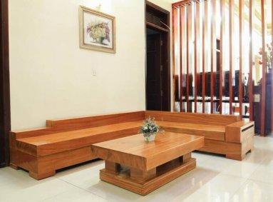 Địa chỉ xưởng sản xuất sofa gỗ nguyên khối uy tín, chuyên nghiệp